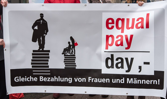 Equal Pay Day – Aktion in Essen am 20.3.2015